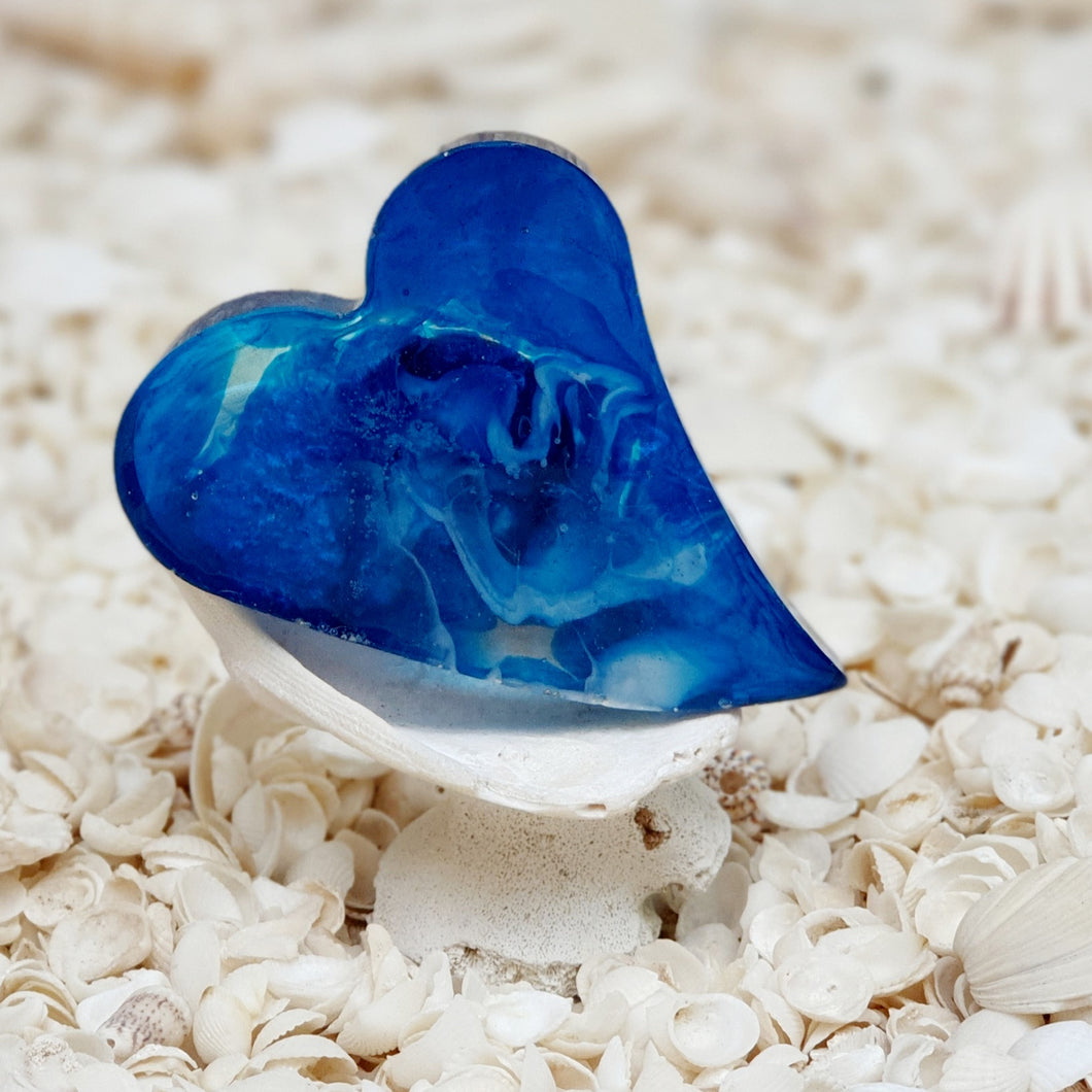 Resin Heart Fridge Magnet #20031