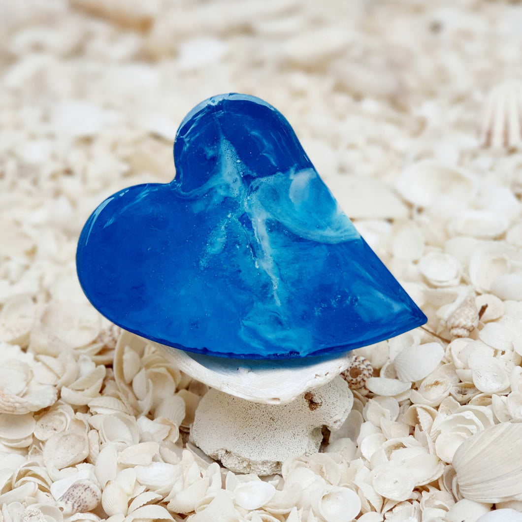 Resin Heart Fridge Magnet #20032