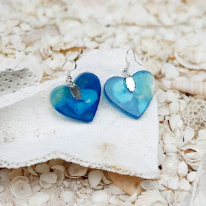 Resin Heart Earring #3001
