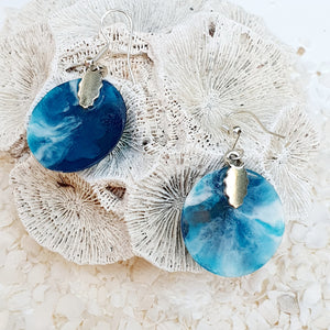 Resin Round Earring #3303
