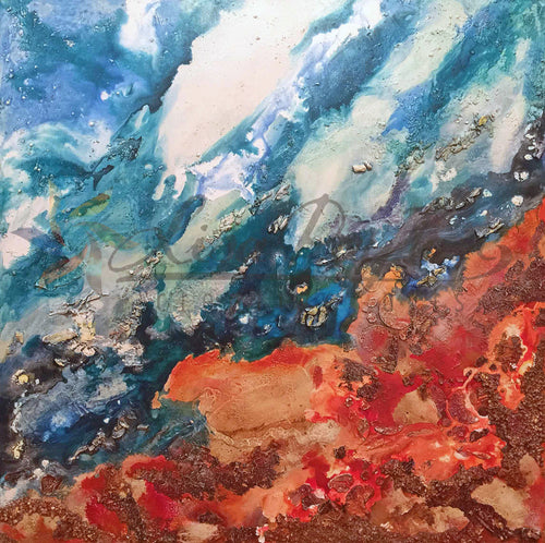 Outback Meets the Ocean Acrylic & Resin Original Painting