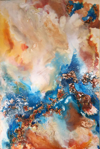 Rocky Blue River Orginal Acrylic Painting