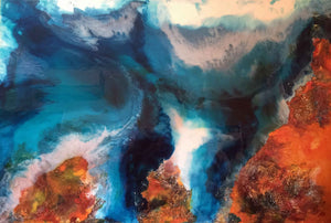 The Earth Acrylic & Resin Original Painting