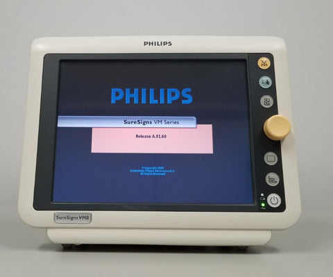 Philips 863066 SureSigns VM8 Patient Monitor ECG NIBP IBP SPO2 CO2 Bio-med Cert