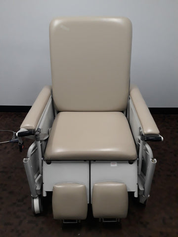 Winco LB-S675-SN S675 Bariatric Reclining Stretchair Beige & Hand Control