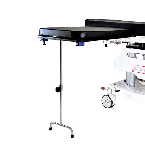 Carbon Fiber Under Pad Mount Arm and Hand Surgery Table W/Single Leg
