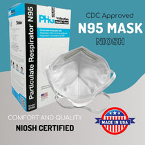 PHG 5160 N95 Face Mask NIOSH Approved Respirator Made in the USA