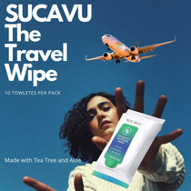 Sucavu Antiseptic Sanitizing Wipes Resealable 10PK - Lot of 5 (50 Towelettes)