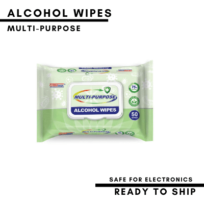 Germisept Multi-Purpose 75% Alcohol Santizing Wipes - 3 Packs of 50 (150 wipes)
