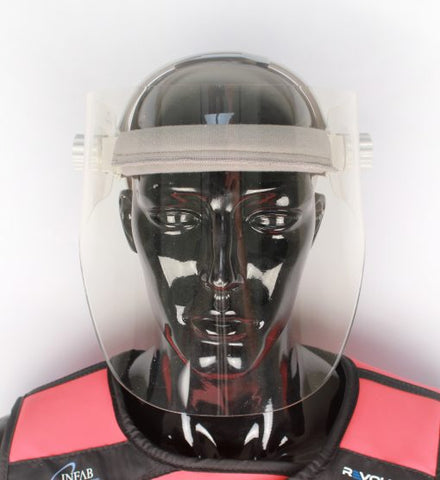 INFAB Lead Acrylic Full Face Shield- Head strap that fits all sizes