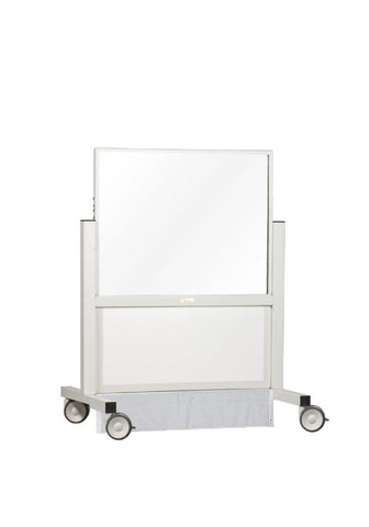 "INFAB ""Shorty"" X-ray Mobile Barrier with Powder coated steel frames - Lead or Acrylic options available-"