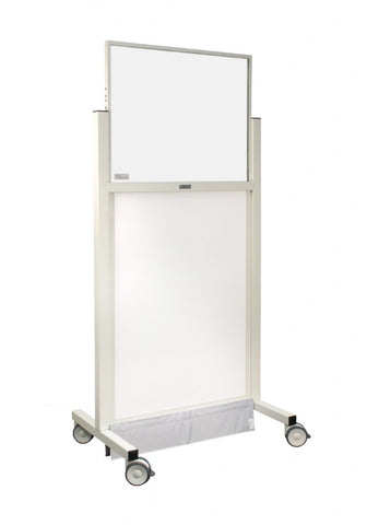 INFAB Standard X-Ray Mobile Barrier with Powder Coated Steel Frame - Lead or Acrylic Options Available -