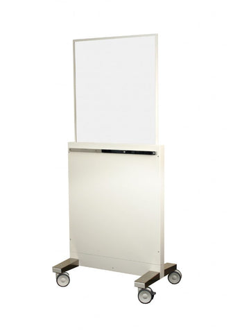 INFAB Technologist Protection X-ray Mobile Barrier - Multiple Heights - Easily Raised and Lowered -