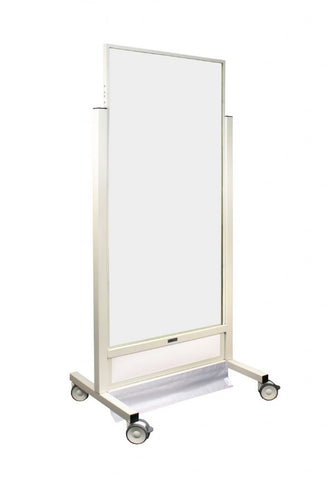 INFAB X-Tall X-ray Mobile Barrier with Powder Coated Steel Frames- Lead and Acrylic Options Available -