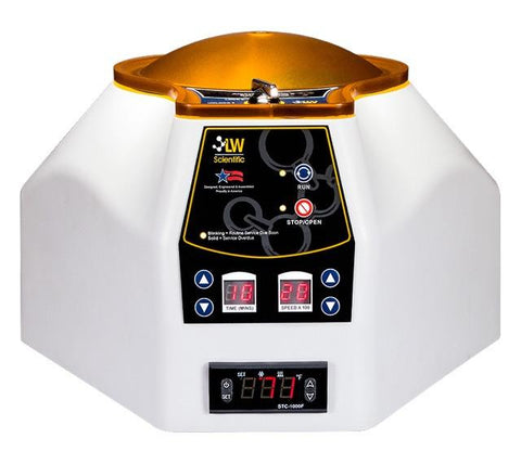 Portable Heated Petroleum Centrifuge with Zero-RPM locking lid, and digital programming of time and speed LW Scientific