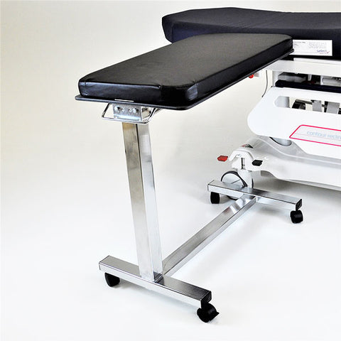 Rectangle Surgery Table w/mobile base and locking casters, clamps for attaching to OR Table