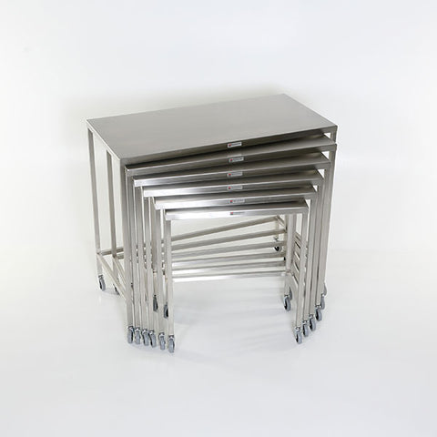 Stainless Steel Nesting Instrument Table with U-brace