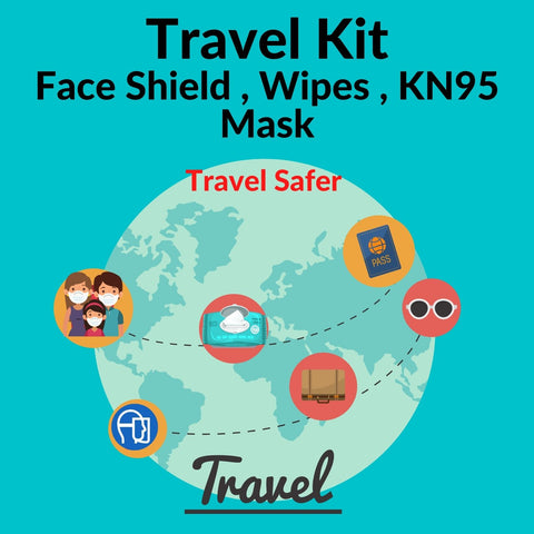 Personal Protective Equipment Travel Kit PPE Supply Kit - Masks, Shield, Wipes-PPE-Primis Medical
