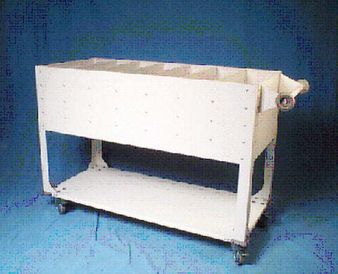 INFAB Extra Large Cassette Cart - Suited for Transporting Exposed Cassettes - Convenient Bottom Storage Shelf
