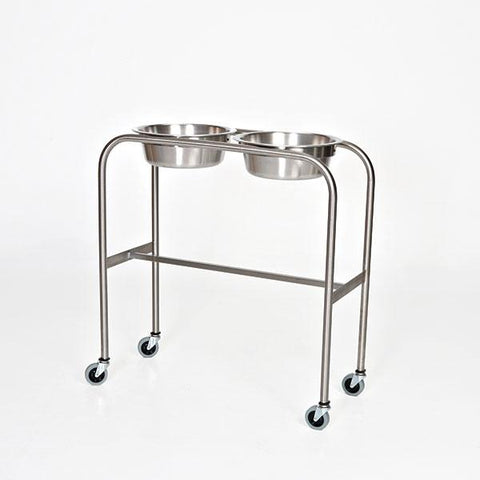 Stainless Steel Double Bowl Ring Stands