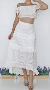 """MYKONOS"" EMBROIDERED MAXI SKIRT"