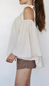 """BELLA"" FLOWY BELL SLEEVE BLOUSE"