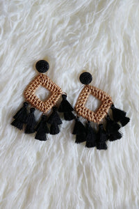 """AMAZONA"" RATTAN EARRINGS"