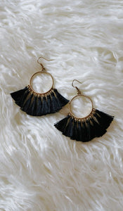 """MARIANA"" EARRINGS - BLACK"