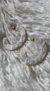 """DRUSILLA"" EARRINGS - WHITE"