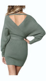 """OLIVIA"" V-NECK SWEATER DRESS **SALE**"