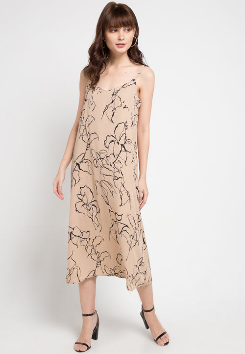Mineola Strappy Dress Cream