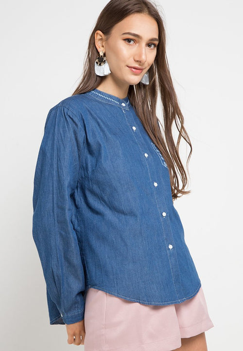 MINEOLA Denim Shirt Dark Blue (11903134FD)