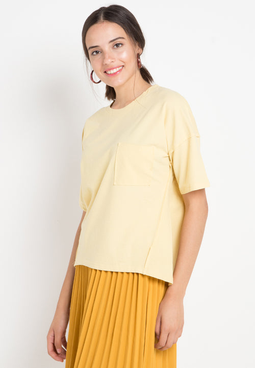Mineola Pocket Front T-Shirt Yellow