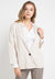 Mineola 1 Button Long Sleeve Blazer Cream