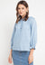 Mineola Long Sleeve Sabrina Blouse Dark Blue