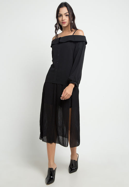 Mineola Sabrina Long Sleeve Black