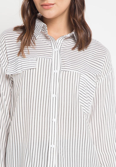 Mineola Stripe Shirt White