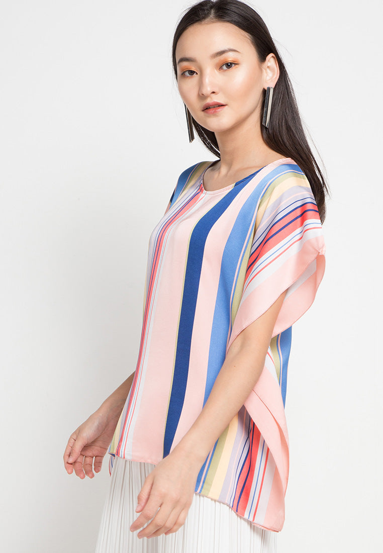 MINEOLA Colourful Blouse Pink