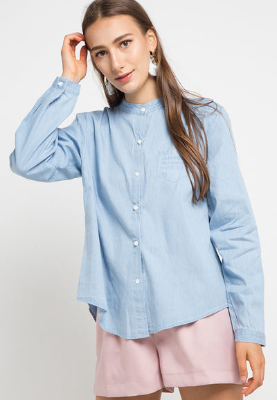 MINEOLA Denim Shirt Light Blue