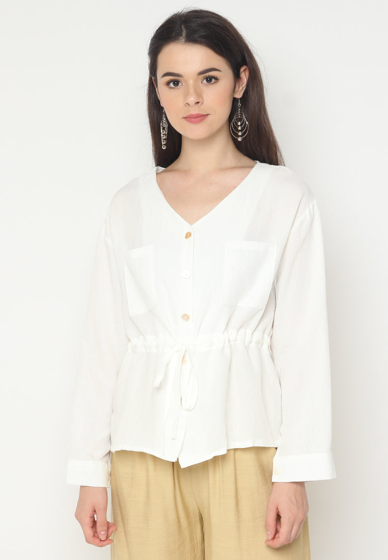 Mineola MNL Waist String Tie Blouse
