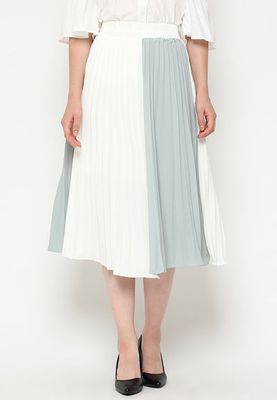 Mineola MNL Two Tone Pleated Skirt