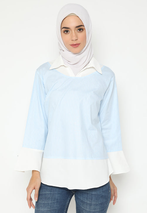 Mineola Hijab Round Neck Strip