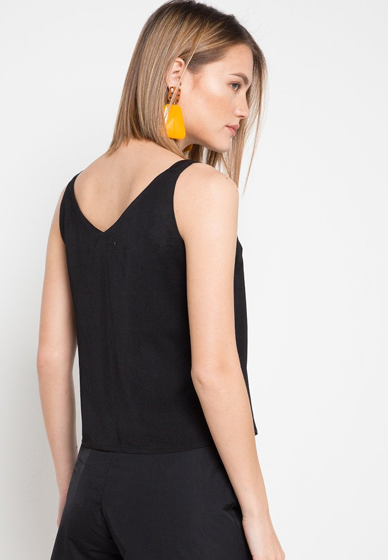 Mineola Cotton Tank Top Black