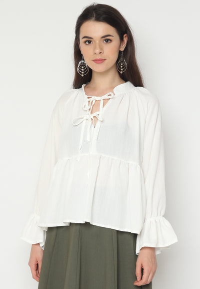 Mineola MNL Neck Tie Long Sleeves Blouse