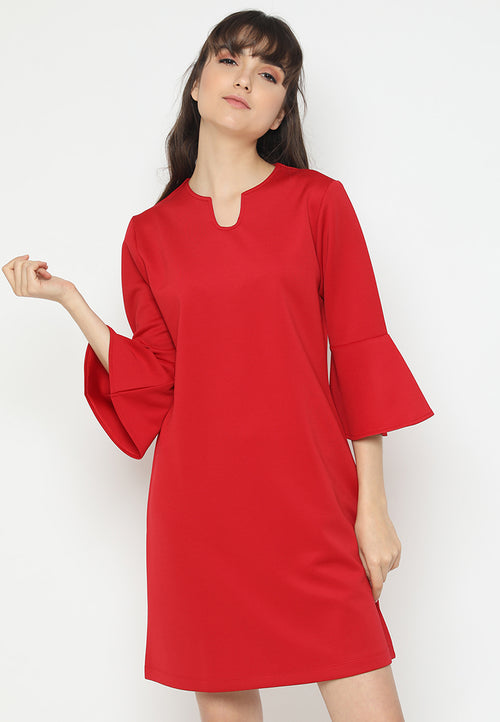 Mineola Flare Sleeve Midi Dress