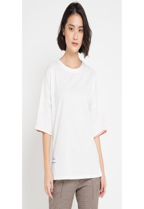 Mineola T-Shirt With Contrast Color Sleeves White (11805145FW)