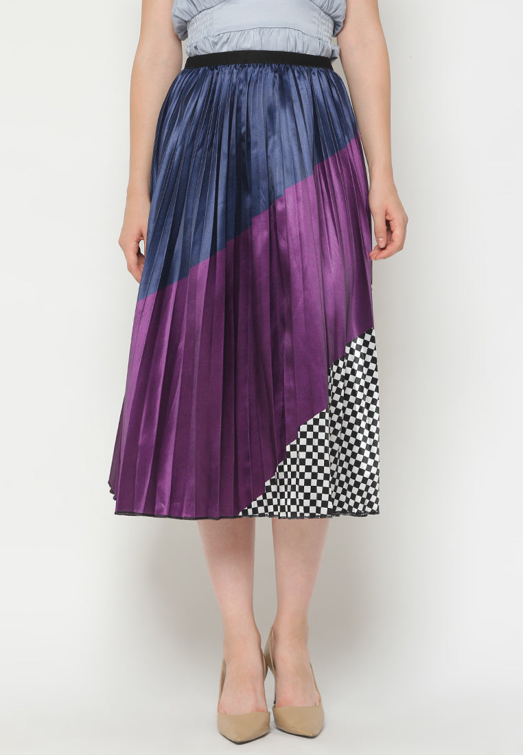 Mineola MNL Pleated Printing Skirt