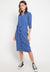 Mineola V Neck Knitted Dress Blue