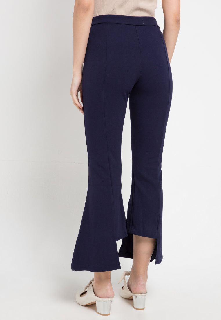 Mineola Stretch Flared Boot Cut Pants Navy