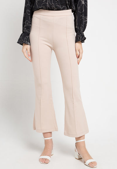 Mineola Stretch Boot Cut Pants Cream